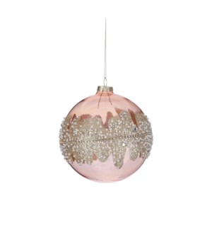 "Ornament ball pink - 4.75"""