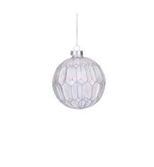 """Ornament ball silver - 4"""""""
