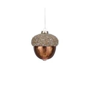 """Ornament acorn brown - 4"""""""