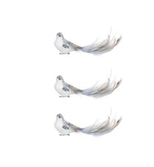 "Clip bird l. blue 3 pieces - 7x1.75x2.25"""