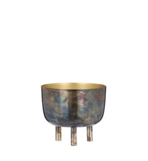 """Azar pot on stand gold antique - 7x6"""""""