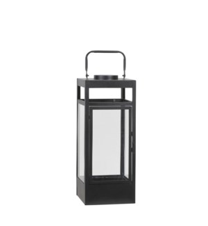 Flint lantern black 4led BO - 6.5x6.5x16.25""