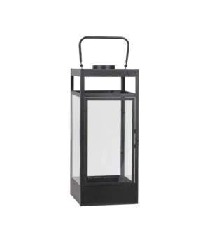Flint lantern black 4led BO - 8x8x19""