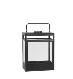 Flint lantern black 4led BO - 11x7x14.75""