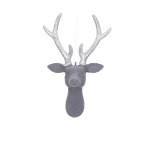 """Ornament deer grey - 6x3.25x8.75"""""""