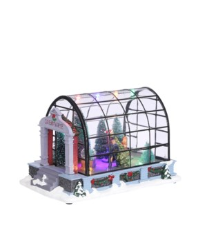 Christmas tree greenhouse battery operated - 8.75x5.5x5.5""