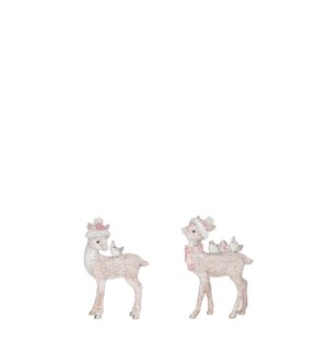 """Deer pink 2 assorted - 2.25x1.25x3.5"""""""
