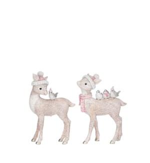 """Deer pink 2 assorted - 4.25x2x6"""""""
