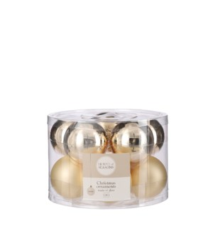 Bauble glass champagne 10 pieces - 2.25""