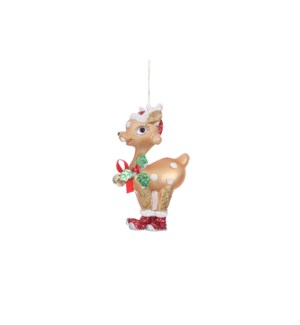 "Ornament deer brown - 2.75x1.5x4.5"""