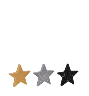 "Star yellow grey black 3 assorted - 6x0.75x5.75"""