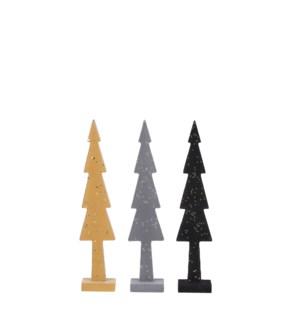 "Tree grey black yellow 3 assorted - 2x1.5x10.5"""