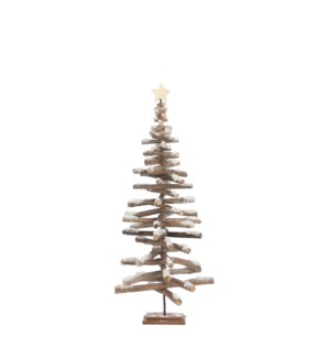 """Tree white - 17x39.5"""""""