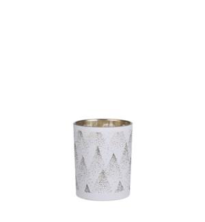 """Tealight holder white - 4x4.75"""""""