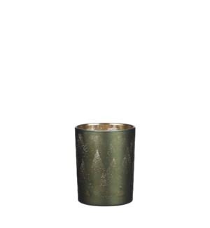 """Tealight holder green - 4x4.75"""""""