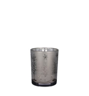"""Tealight holder brown frosted - 4x5"""""""