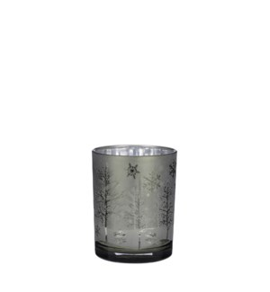 """Tealight holder green frosted - 4x5"""""""