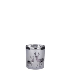 """Tealight holder grey frosted - 3.5x4"""""""