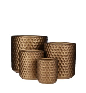 Dany pot round gold set of 4 - 11.5x11.5""