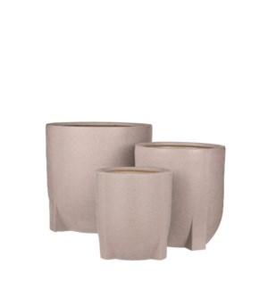 "Pjotr pot round l. brown set of 3 - 11.5x11.5"""