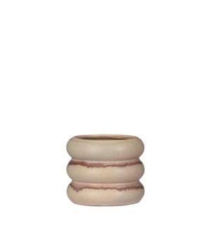 """Alex pot round pink - 5.5x4.5"""""""