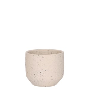 Quinn pot round off white - 5.5x4.75""