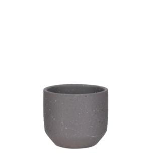 """Quinn pot round d. grey - 5.5x4.75"""""""