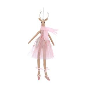 "Ornament deer pink - 5x0.75x15.25"""