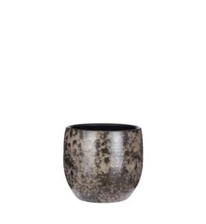 "Nicolas pot round grey - 7.5x6.25"""