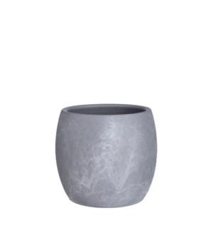 "Lester pot round l. grey stone - 8x7"""