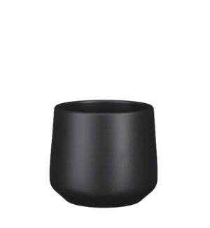 """Amber pot round d. grey matt - 6.75x6"""""""