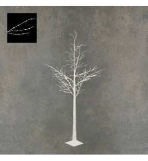 """Outdoor LED Birch Tree P/I on timer 600L White Classic White - 40x72"""""""