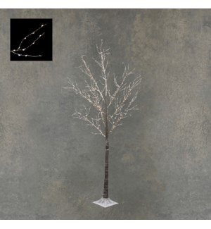 Tree brown classic white 600led IP44 timer - 40x72""