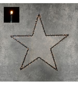 """Garden d'light stake star 225led classic white - 35.5x40"""""""
