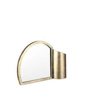 Divan mirror with vase gold - 10.75x3x7""