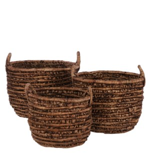 Hester basket brown set of 3 - 19.25x15""