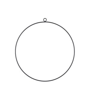 Decoration circle hanging black - 11.75""