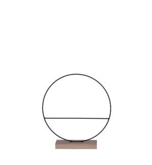 "Decoration circle black - 2.75x11.75"""