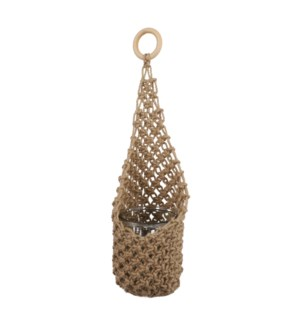 Basket hanging l. brown - 6.75x15.75""