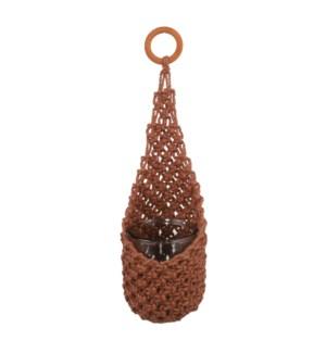 """Basket hanging pink - 6.75x15.75"""""""
