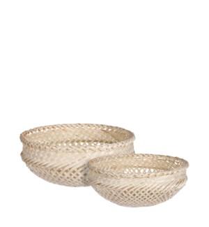 """Birthe basket round l. brown set of 2 - 9.75x4"""""""