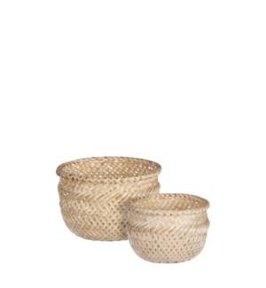 """Birthe basket round l. brown set of 2 - 6x5"""""""