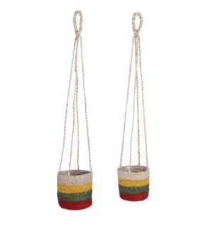 Ardore basket hanging ochre set of 2 - 6.25x6.25""