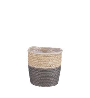 "Rachel basket round grey - 5.5x5.5"""