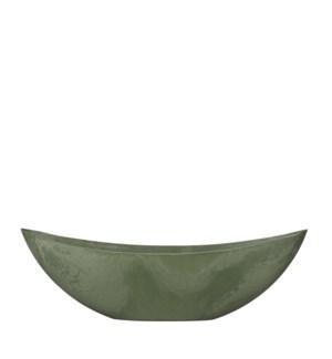 "Mila pot oval green - 21.75x5.25x7"""