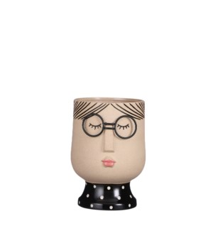 "Pot girl l. brown display - 6x8.25"""