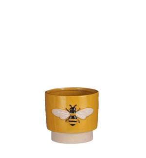 "Pot bee d. yellow display - 5.5x6x5"""