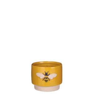"Pot bee d. yellow display - 4.75x5x4"""
