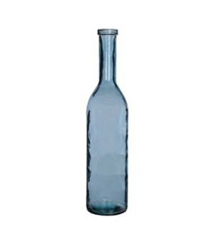 Rioja bottle glass l. blue - h75xd18cm