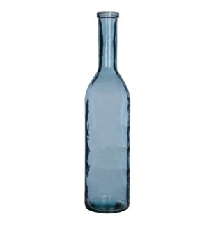 Rioja bottle glass l. blue - h100xd21cm